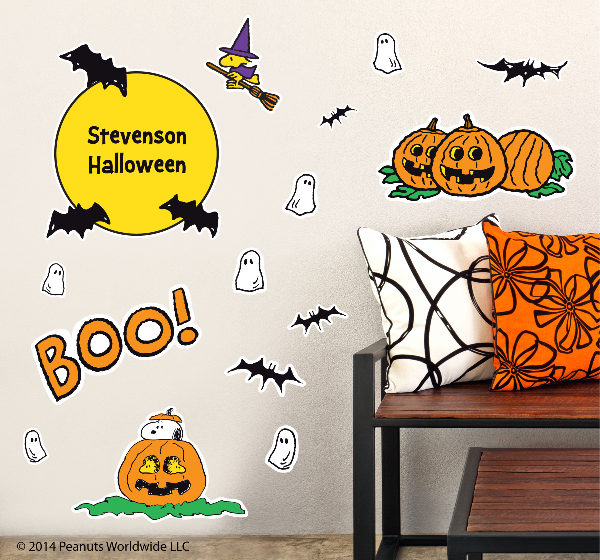 Peanuts Wall Decals Picking Pumpkins with Snoopy