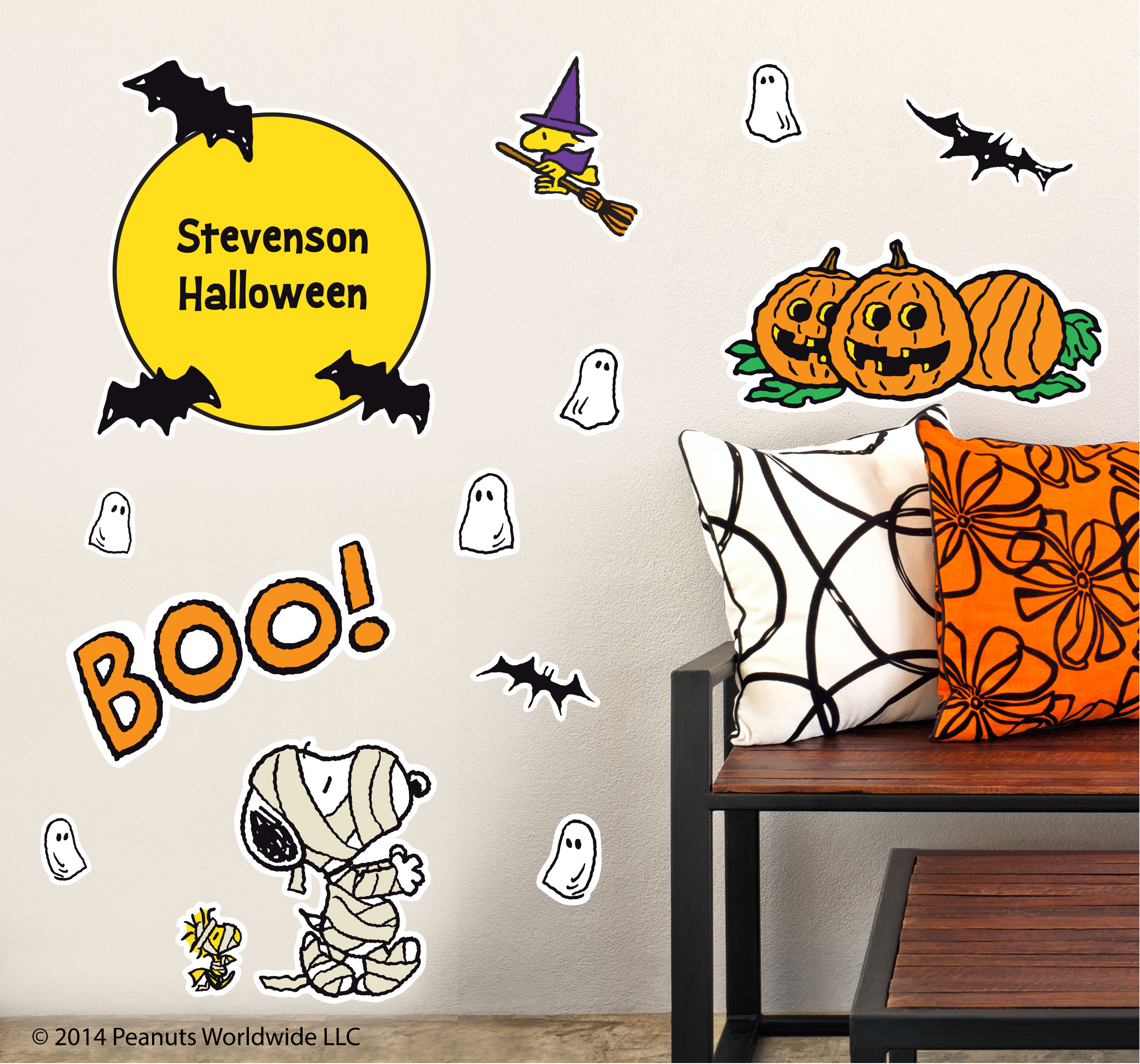 Peanuts Wall Decals Snoopy in Wraps