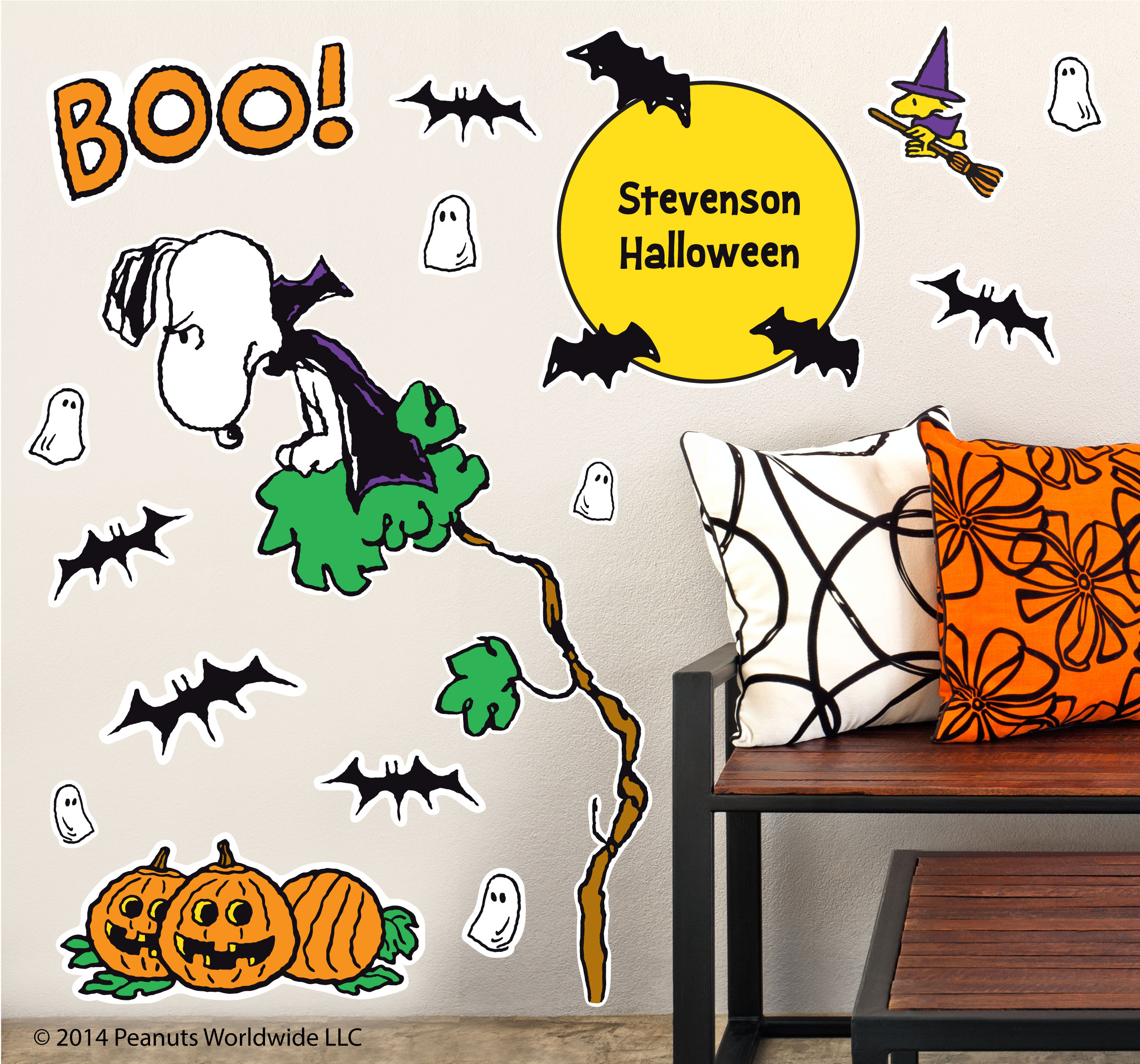 Peanuts Wall Decals Spooky Snoopy