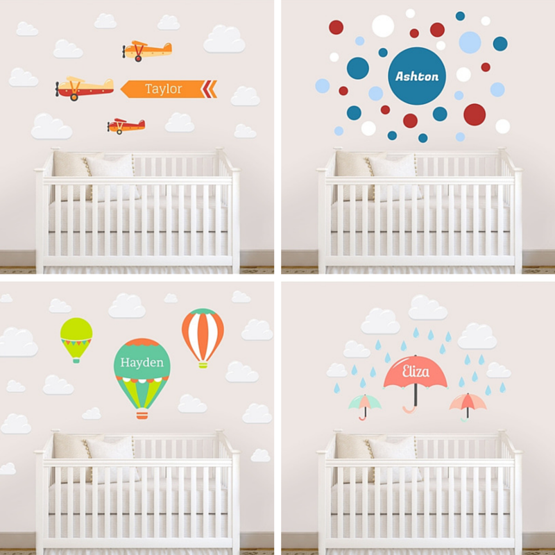 Name Bubbles Wall Decals