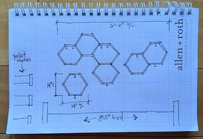 Honeycomb-Shelf-Sketch
