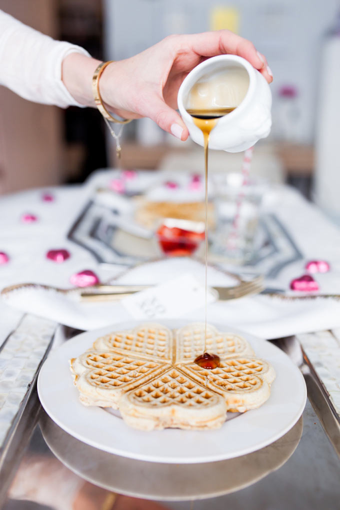 Valentines-Day-Breakfast-in-bed-with-heart-waffles-by-Fashionable-Hostess