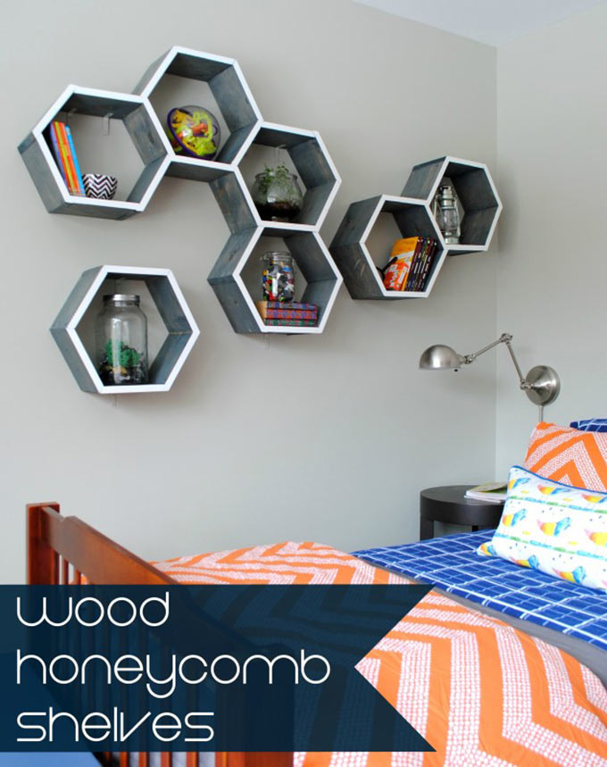 Wood-Honeycomb-Shelves