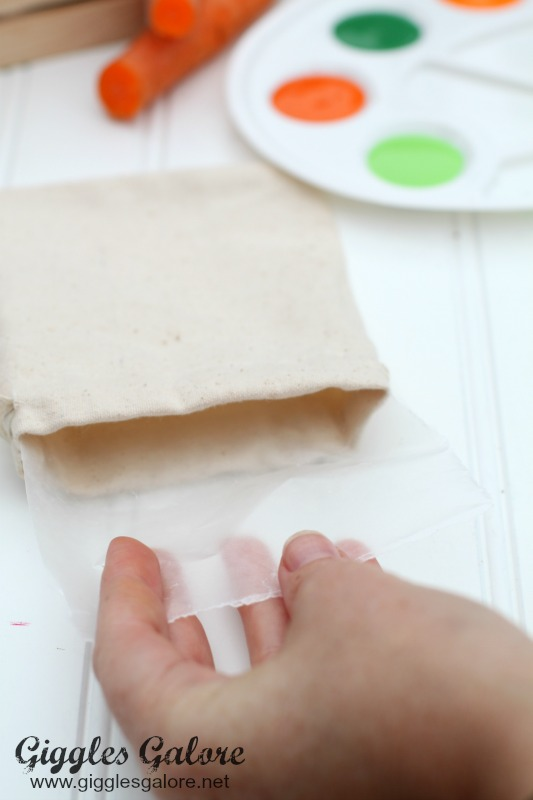 Painting-with-Carrots_Wax-Paper-In-Bags