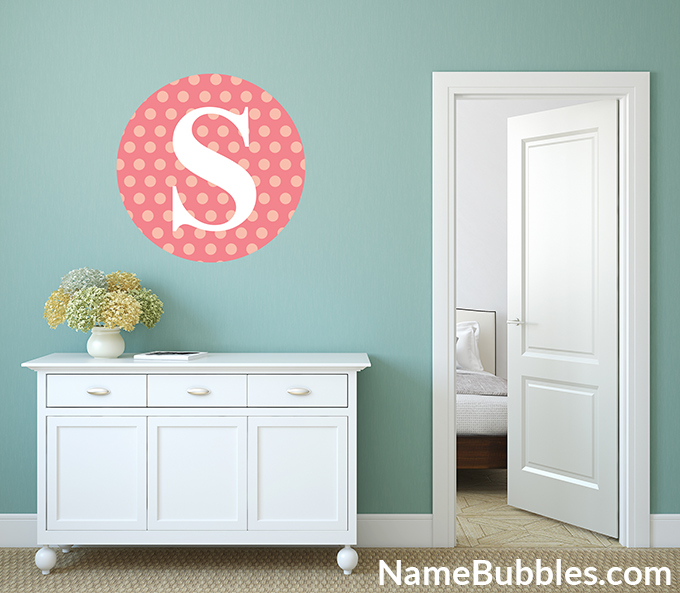 Exceptionnel Letter Monogram Wall Decals