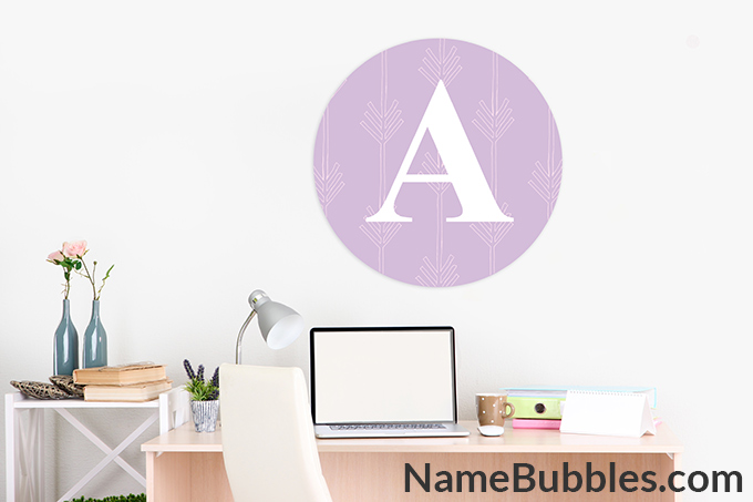 Letter Wall Decal Name Bubbles