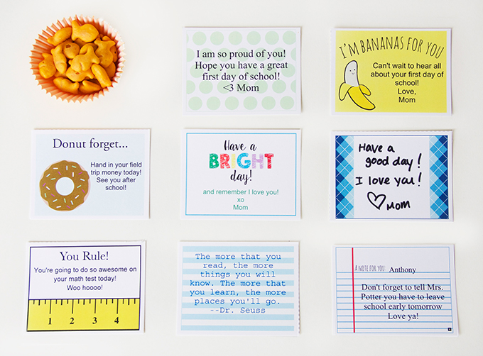 boys lunchbox notes