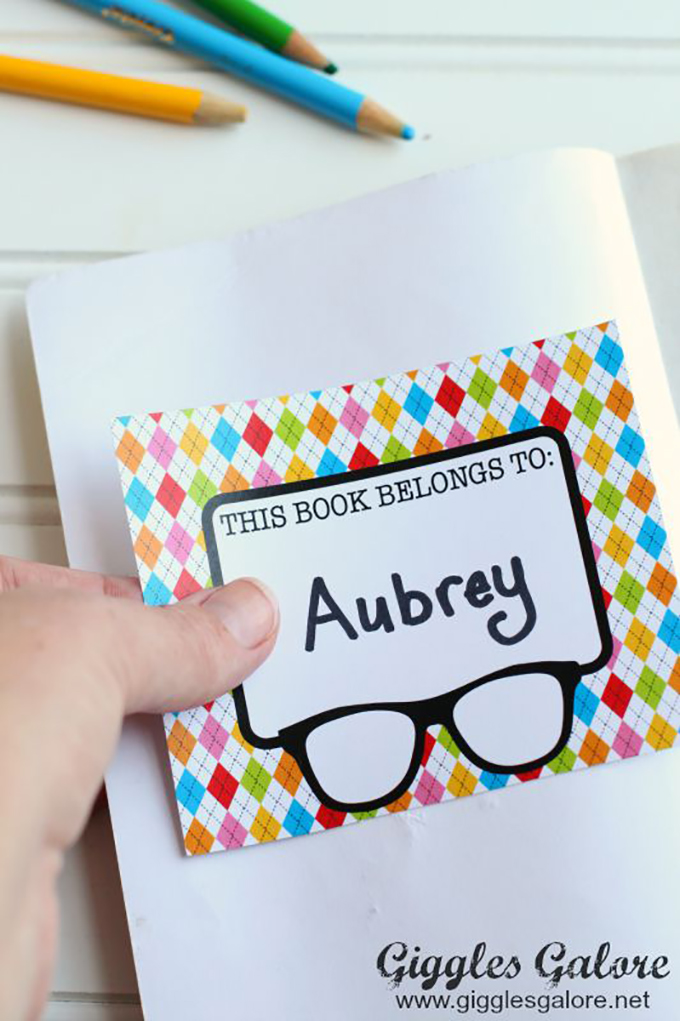 printable book label