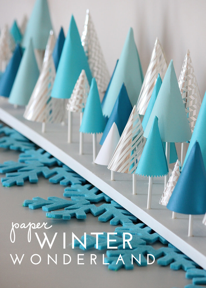 Paper winter wonderland decor for How to make winter crafts