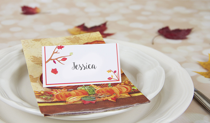 Thanksgiving seating cards