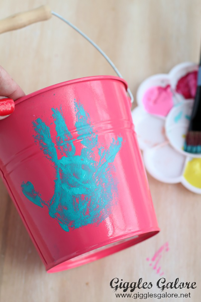 Hand-print-on-flower-pot